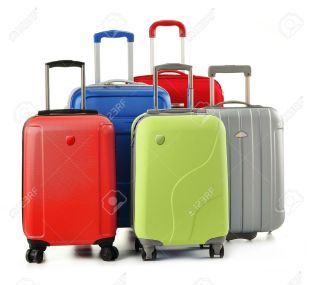 11549111-Luggage-consisting-of-polycarbonate-suitcases-isolated-on-white-Stock-Photo